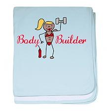 Body Builder baby blanket