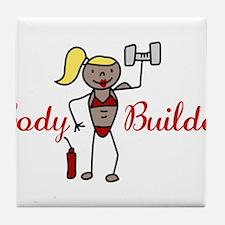 Body Builder Tile Coaster