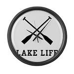 Lake Life Large Wall Clock