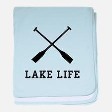 Lake Life baby blanket