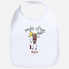 Weight Lifting Babe Bib