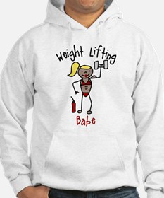 Weight Lifting Babe Hoodie
