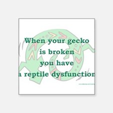 """Reptile Dysfunction 3 Square Sticker 3"""" x 3"""""""