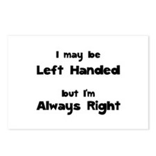 Left Handed Postcards (Package of 8)