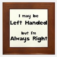 Left Handed Framed Tile