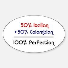 Italian & Colombian Oval Decal