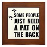 Pat On Back Framed Tile