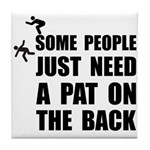 Pat On Back Tile Coaster