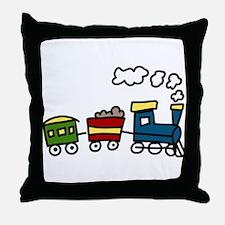 Choo-Choo Train Throw Pillow