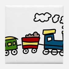 Choo-Choo Train Tile Coaster