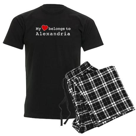My Heart Belongs To Alexandria Men's Dark Pajamas