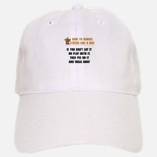 Stress Like Dog Baseball Baseball Cap