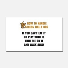 Stress Like Dog Car Magnet 20 x 12