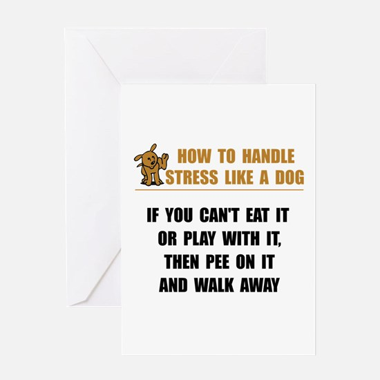 Stress Like Dog Greeting Card