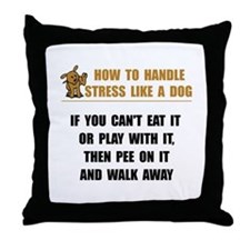 Stress Like Dog Throw Pillow