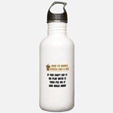 Stress Like Dog Sports Water Bottle