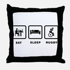Wheelchair Rugby Throw Pillow