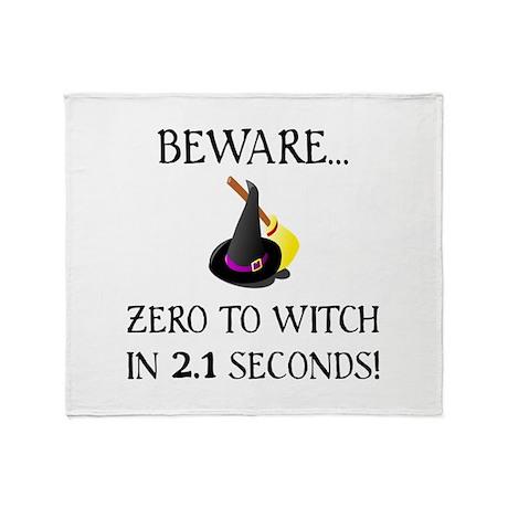 Zero To Witch Throw Blanket