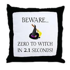 Zero To Witch Throw Pillow