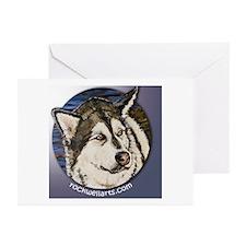 Malamute Alaskan Greeting Cards (Pk of 10)