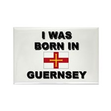 I Was Born In Guernsey Rectangle Magnet