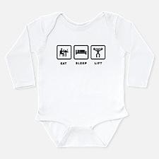 Weightlifting Long Sleeve Infant Bodysuit