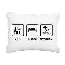 Waterskiing Rectangular Canvas Pillow