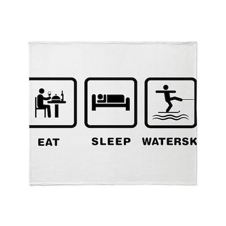 Waterskiing Throw Blanket