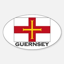 Guernsey Flag Stuff Oval Decal