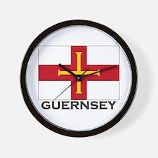 Guernsey Flag Stuff Wall Clock