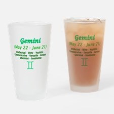 Gemini Description Drinking Glass