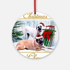 Mastiff Cheer Ornament (Round)
