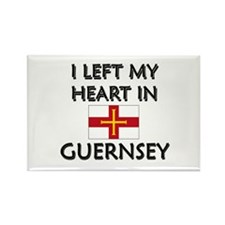 I Left My Heart In Guernsey Rectangle Magnet