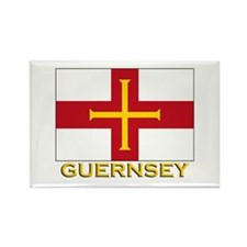 Guernsey Flag Gear Rectangle Magnet