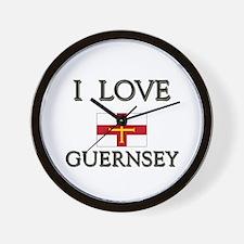 I Love Guernsey Wall Clock