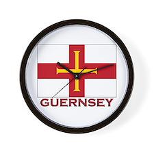 Guernsey Flag Merchandise Wall Clock