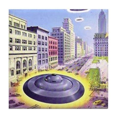 Alien Invasion Tile Coaster