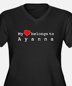 My Heart Belongs To Ayanna Women's Plus Size V-Nec