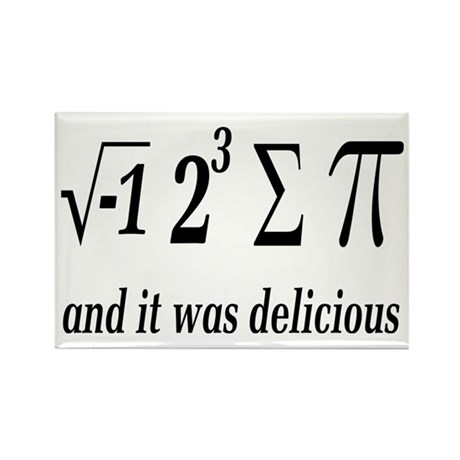 I Ate Some Delicious Pi Math Joke Rectangle Magnet