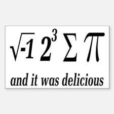 I Ate Some Delicious Pi Math Joke Decal