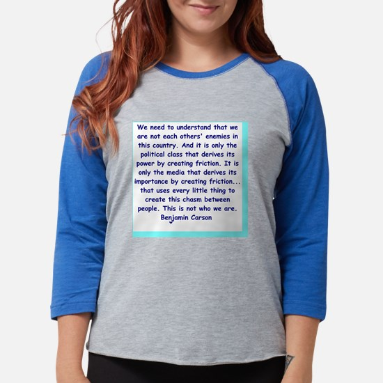 ben carson quote Womens Baseball Tee