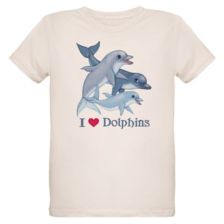 Dolphin Family and Text T-Shirt T-Shirt