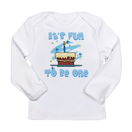 Fun To Be One Blue Long Sleeve Infant T-Shirt