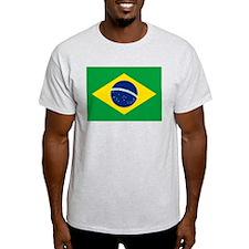 Brazilian Flag Ash Grey T-Shirt