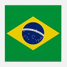 Brazil Flag Tile Coaster