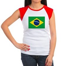 Flag of Brazil Women's Cap Sleeve T-Shirt