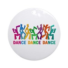 Dance Dance Dance Ornament (Round)