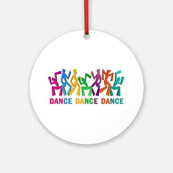 Dance Dance Dance Ornament (Round)