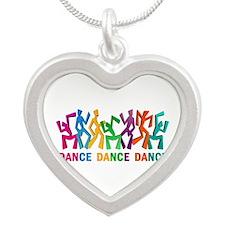 Dance Dance Dance Silver Heart Necklace