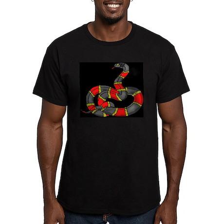 Fantasy Coral Snake Black T-Shirt T-Shirt